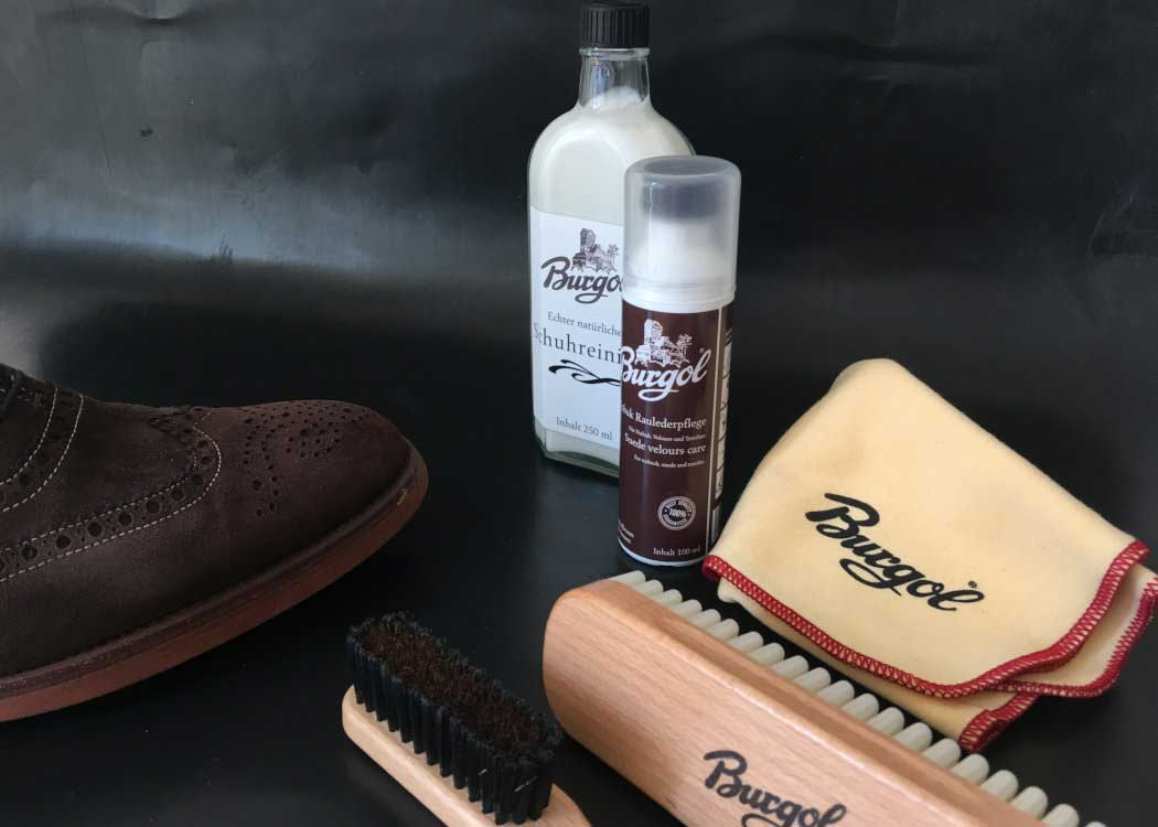 Care for suede and nubuck shoes with Burgol